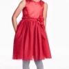 H&M : ชุดเดรสสีแดง รุ่น Sleeveless Dress (งานช้อป) size : 1-2y / 2-4y / 4-6y / 6-8y / 8-10y / 10-12y / 12-14y