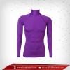 Bodyfit / Baselayer เสื้อรัดรูป คอตั้งแขนยาว สีม่วง darkorchid
