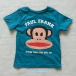 H&M : เสื้อยืด สกรีนลาย Paul Frank สีเขียว Size : 1-2y / 6-8y / 8-10y