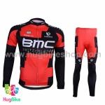 ชุดจักรยานแขนยาวทีม BMC 16 (01) สีแดงดำ