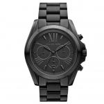 นาฬิกาข้อมือ Michael Kors MK5550 Michael Kors Bradshaw Chronograph Black Dial Black Lon-Plated Unisex Watch MK5550 Size 43 mm