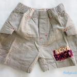Old navy : กางเกงขาสั้น สีเทา มีกระเป๋าข้าง Size 2y / 3y / 5y