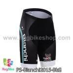 กางเกงจักรยานขาสั้นทีม Bianchi 15 สีดำเขียว สั่งจอง (Pre-order)