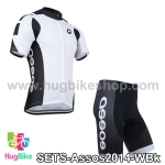 ชุดจักรยานแขนสั้นทีม Assos 14 สีขาวดำ สั่งจอง (Pre-order)