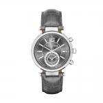 นาฬิกาข้อมือ Michael Kors MK2432 Michael Kors Sawyer Grey Dial Grey Leather Ladies Watch MK2432