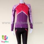 ชุดจักรยานแขนยาวขายาว Castelli 16 (02) สีชมพูม่วง