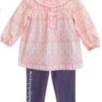 Carter's : ชุดเซ็ท แขนยาวสีชมพู พร้อมเลกกิ้ง (งานขีดป้าย) size : 12m