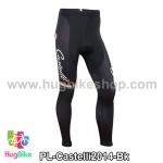 กางเกงจักรยานขายาวทีม Castelli 14 สีดำแทบแดงขาวเขียว สั่งจอง (Pre-order)
