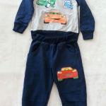 Carter's : Set เสื้อแขนยาว+กางเกงขายาว ลาย คาร์ สีกรม เนื้อผ้า นิ่ม ไม่หนามาก Size : 1y
