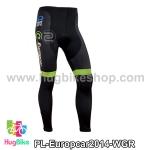 กางเกงจักรยานขายาวทีม Europcar 14 สีเขียวดำ สั่งจอง (Pre-order)