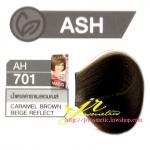 ครีมเปลี่ยนสีผม ดีแคช มาสเตอร์ แมส คัลเลอร์ครีม Dcash Master Mass Color Cream AH 701 น้ำตาลคาราเมลอมเบส (Caramel Brown Beige Reflect) 50 ml.