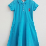 Polo : เดรสโปโล กระโปรงบาน สีฟ้าเข้ม size 8 ( 7-8y)