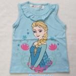 H&M : เสื้อกล้าม สกรีนลาย Elsa สีฟ้า size 6-8y