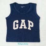 GapKids : เสื้อกล้าม ติดโลโก้ GAP สีน้ำเงิน size 110 / 130 / 140 / 150