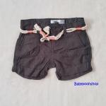 Old Navy : กางเกงขาสั้น พร้อมเข็มขัดเชือก สีดำ (มีสายปรับเอว) size : 5y / 6y / 7y / 8y / 10y / 12y / 16y