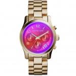นาฬิกาข้อมือ Michael Kors MK5939 Michael Kors Ladies Runway Gold Plated Chronograph