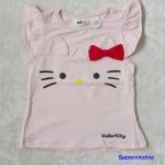 H&M : เสื้อยืด ผ้า cotton หน้าคิตตี้ Hello Kitty สีชมพูอ่อน size : 1-2y / 2-4y / 4-6y / 6-8y / 8-10y / 10-12y / 12-14y