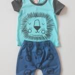 ชุดเซ็ท เสื้อ+กางเกง ลายสิงโต size : 100 / 110 / 130