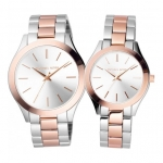 นาฬิกาข้อมือ Michael Kors รุ่น MK3204a, MK3204b (Set) Michael Kors Matching Set Two Tone Analog Men's & Women's Watch MK3204