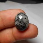 แก้วขนเหล็กน้ำตัน ขนาด 1.7 x 1.2 cm ทำหัวแหวน