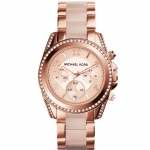 นาฬิกาข้อมือ Michael Kors MK5943 MK5943 Blair Rose Gold Glitz Chronograph Watch