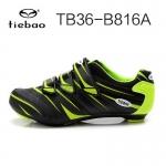 รองเท้าจักรยานเสือหมอบ TIEBAO รุ่น TB36-B816A สีเขียวดำ