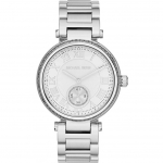 นาฬิกาข้อมือ Michael Kors MK5866 Michael Kors Skylar Silver Dial Stainless Steel Ladies Watch MK5866