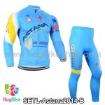 ชุดจักรยานแขนยาวทีม Astana 14 สีฟ้า สั่งจอง (Pre-order)
