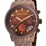 นาฬิกาข้อมือ Michael Kors รุ่น MK5547 Michael Kors Women's Showstopper Chocolate Chronograph Watch MK5547 Size 36 mm