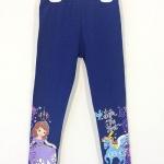 Disney : เลกกิ้ง ปลายขาสกรีนลายเจ้าหญิงโซเฟีย สีน้ำเงิน size 8