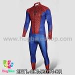 ชุดจักรยานแขนยาว Spiderman 14 สีน้ำเงินแดง สั่งจอง (Pre-order)