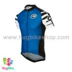 เสื้อจักรยานแขนสั้นทีม Assos 16 สีน้ำเงินดำขาว