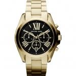 นาฬิกาข้อมือ Michael Kors รุ่น MK5739 Michael Kors Bradshaw Chronograph Black Dial Gold Tone Ladies Watch MK5739 Size 43 mm