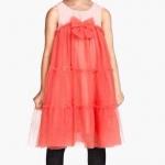 H&M : เดรสตัดต่อผ้าตาข่ายสีส้ม (ชนช้อป) น่ารัก ฟรุ้งฟริ้งมากค่ะ