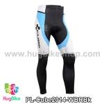 กางเกงจักรยานขายาวทีม Cube 14 สีขาวฟ้าแดงดำ สั่งจอง (Pre-order)