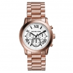 นาฬิกาข้อมือ Michael Kors รุ่น MK5929 Michael Kors Cooper Chronograph White Dial Rose Gold-tone Ladies Watch MK5929 Size 39 mm