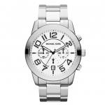 นาฬิกาข้อมือ Michael Kors รุ่น MK8290 Michael Kors Silver Tone Stainless Steel Analog Quartz Watch MK8290 Size 45 mm