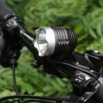 ไฟหน้าจักรยาน CREE XM-L T6 LED 1 ดวง ความสว่าง 1200 Lumen พร้อมแบตเตอรี่ครบชุด (DC)