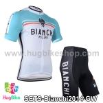 ชุดจักรยานแขนสั้นทีม Bianchi 14 สีเขียวขาว สั่งจอง (Pre-order)