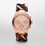 นาฬิกาข้อมือ Michael Kors MK4269 Rose Gold-Tone Tort Runway Watch Size 38 mm