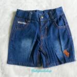 POLO : กางเกงยีนส์ขาสั้น เนื้อผ้านิ่ม ไม่หนา มีสายปรับเอวค่ะ size : 1-2y / 4-5y / 5-6y / 7-8y