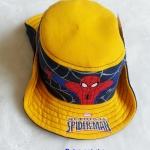 หมวก ทรง คาวบอย ลาย Spiderman สีเหลือง