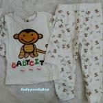 Baby city : ชุดนอนลายลิงจ๋อ size : 80 / 90