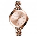 นาฬิกาข้อมือ Michael Kors รุ่น MK3223 Michael Kors Women's Slim Runway Rose Gold-Tone Stainless Steel Bracelet Watch MK3223