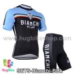ชุดจักรยานแขนสั้นทีม Bianchi 14 สีน้ำเงินดำ สั่งจอง (Pre-order)