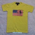 POLO : เสื้อยืดลายธงชาติ สีเหลือง