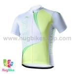 เสื้อจักรยานแขนสั้นทีม Bicycl 2015 สีขาวเขียว