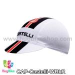 หมวกแก๊บ Castelli 14 (02) สีขาวดำแดง