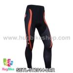กางเกงจักรยานขายาวทีม 3T 14 สีดำแดง สั่งจอง (Pre-order)