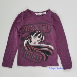 H&M : เสื้อยืดแขนยาว ลาย Monster สีม่วง size : 4-6y / 12-14y